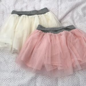 Gap tutu skirts pink & cream 2T